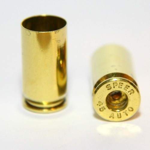 .45 ACP Brass Casings Processed - Large Primer