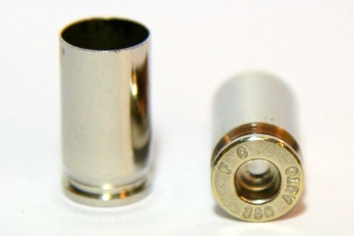 .380 Auto Nickel Casings