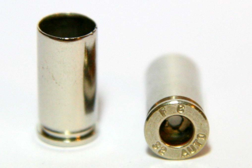 .32 Auto Nickel Casings