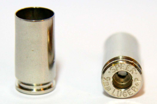 9mm Luger Nickel Casings