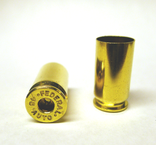 .45acp Brass Casings - SMALL PRIMER