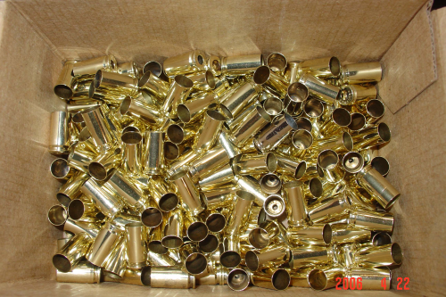 9mm Brass 500ct Unprocessed